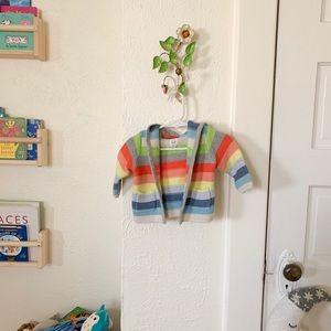 GAP Shirts & Tops - Rainbow knitted hoodie